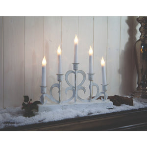 Noma 1014045 Distressed Metal Candle Bridge