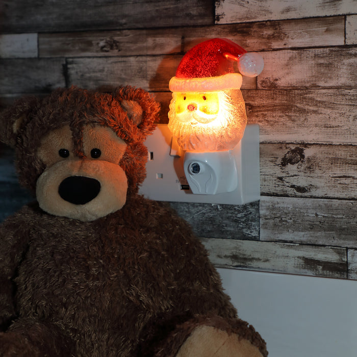 Noma 6818305 Indoor Automatic Santa Night Light