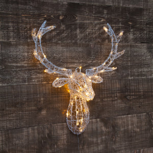 Noma 2517025WW Fit & Forget Acrylic Deer Head 62cm Warm White