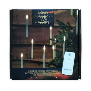 Noma 1019387 Magic Floating Candles Pack of 10 Remote Controlled
