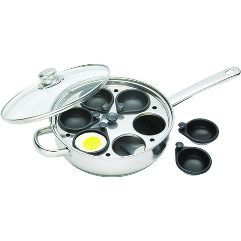 Kitchencraft KCCVPOACH6 S/S 28cm Six Hole Egg Poacher