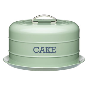 Living Nostalgia LNCTGRN Metal Cake Tin - Green