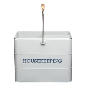 Living Nostalgia LNHKEEPGRY Housekeeping Box - Grey