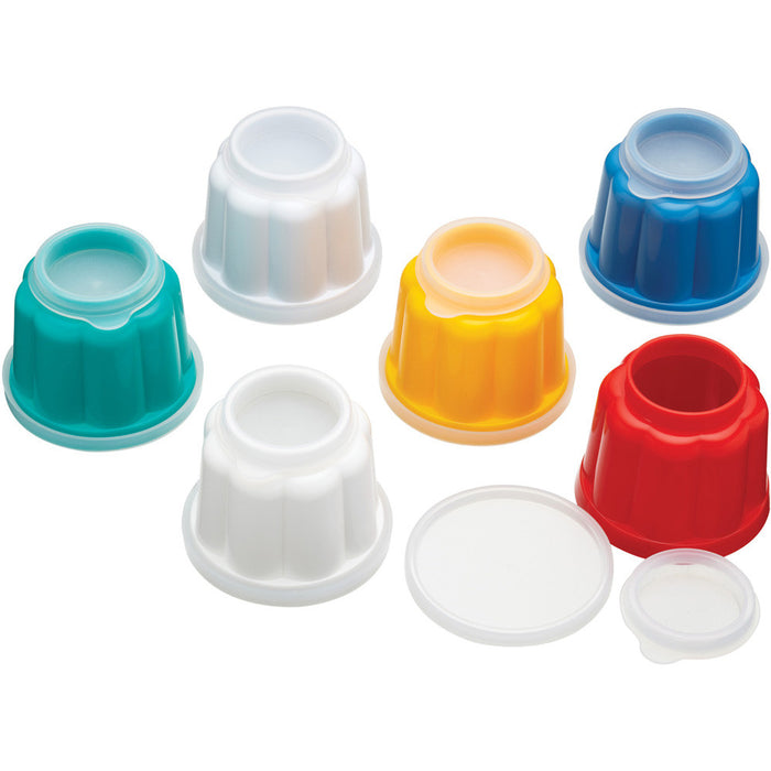 Kitchencraft kcjellyset Set of 6 plastic jelly moulds