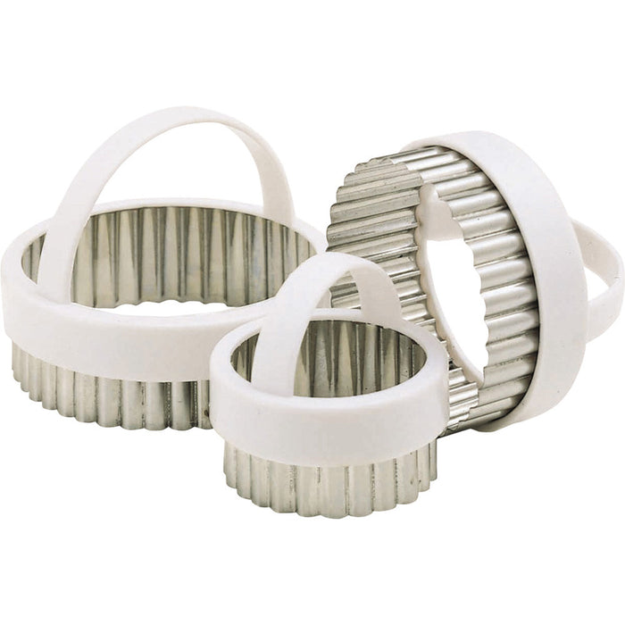 Kitchencraft KCPASTRY3 Set of 3 Fluted Pastry cutters