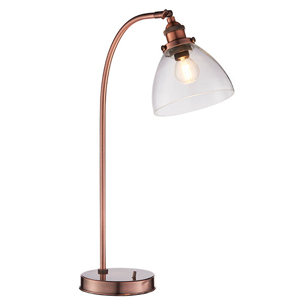 Endon Lighting 77861 Hansen Task 1Lt Table Lamp - Aged Copper