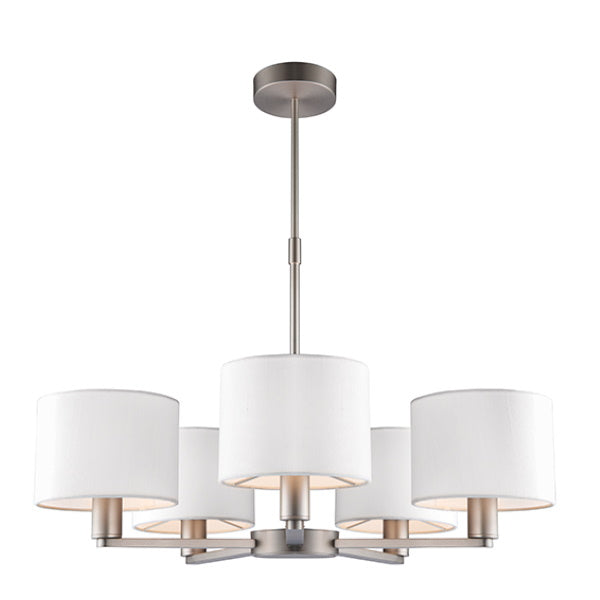 Endon Lighting 60257 Daley 5Lt Ceiling Pendant - Matt Nickel Plate