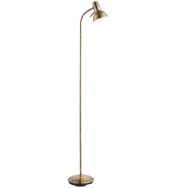 Endon Lighting 76605 Amalfi Task 1Lt Floor Lamp - Antique Brass