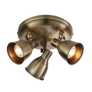 Endon Lighting 76279 Westbury 3Lt Ceiling Plate - Antique Brass
