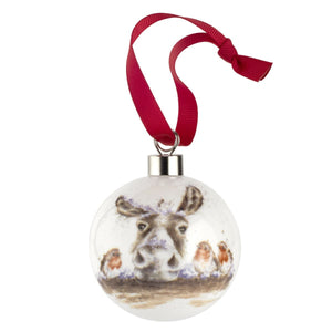 Royal Worcester - Wrendale Designs - The Christmas Donkey & Robin