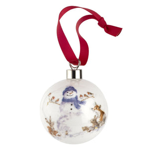 Royal Worcester - Wrendale Designs - Christmas Gathered All Around The Snowman