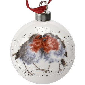 Wrendale Designs WNPE79011-XG Christmas Bauble - Snuggled Up