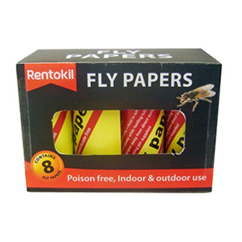 Rentokil FF89 Fly Papers Pkt8