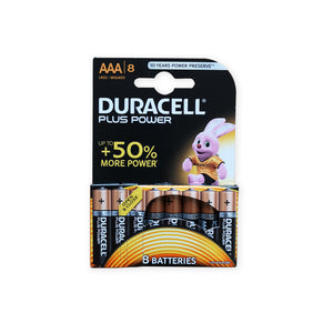 Duracell MN2400 1.5V AAA size Battery - Pack of 8