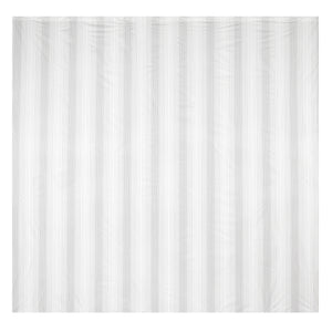 Beldray LA041692BST Boston Stripe Shower Curtain with Hooks, 180x180cm White