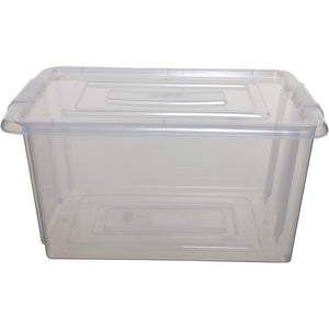 Whitefurze S01M80X Medium Clear Storage Box - Box Only