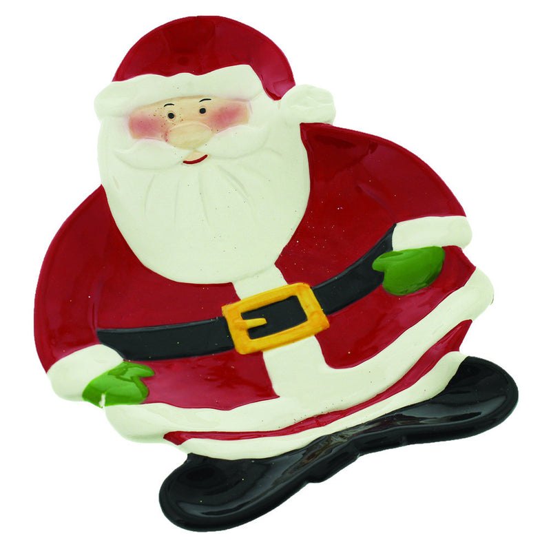Santa Shaped Cookie Plate - XM657