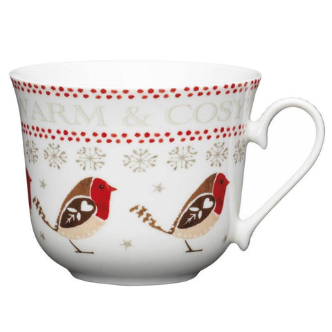 Kitchencraft RRMUG03 Little Red Robin Porcelain Mug 350ml