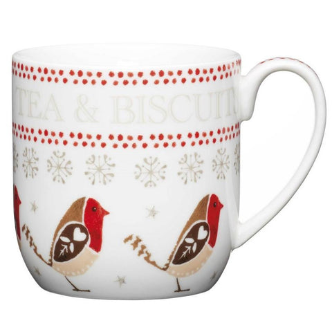 Kitchencraft RRMUG01 Little Red Robin Porcelain Mug 350ml