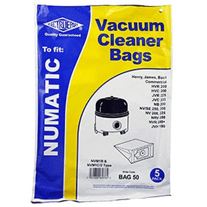 Electruepart BAG50 Numatic Paper Vacuum Bags - Pack of 5