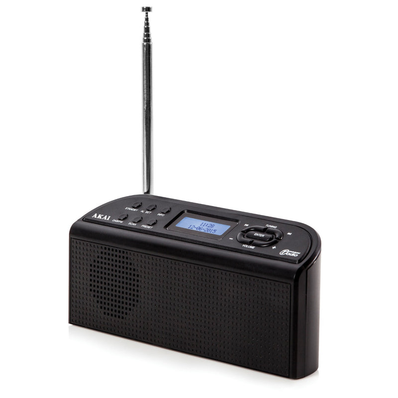 Akai A61016 DAB Digital Radio - Black