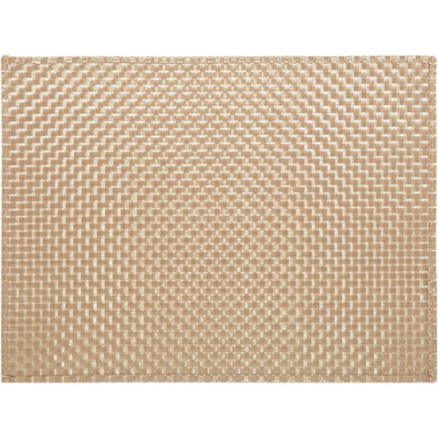 Creative Tops 5136873 Everyday Home Woven Vinyl Placemat - Gold