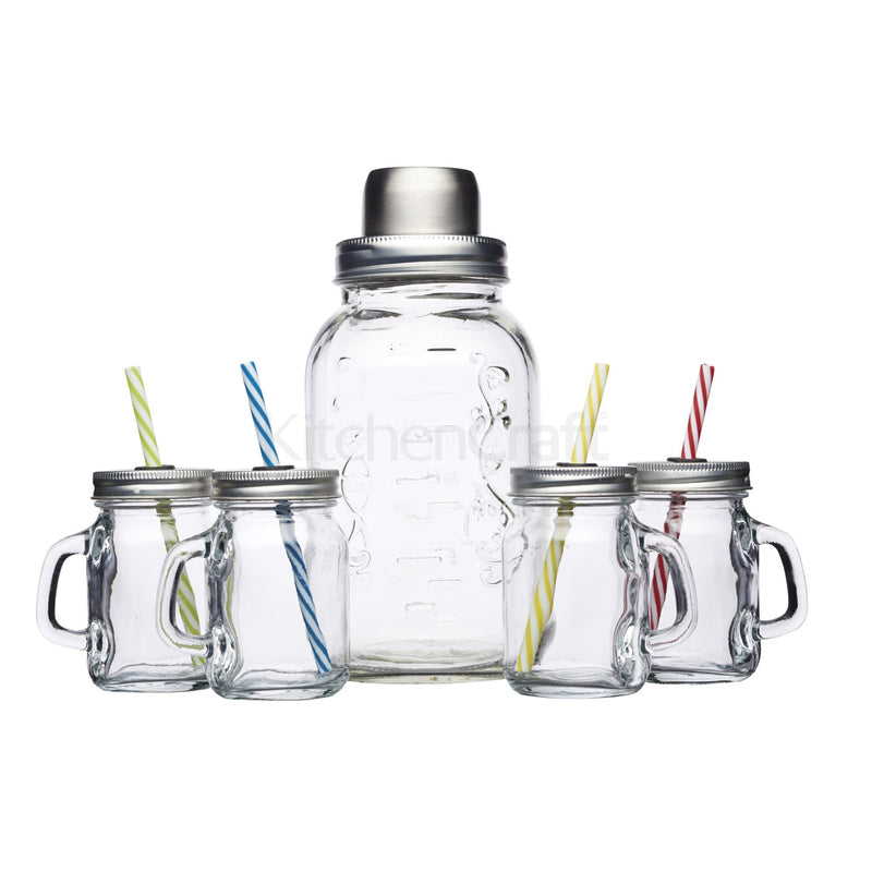 Kitchencraft BCGLSSET5PC Glass Cocktail Kit
