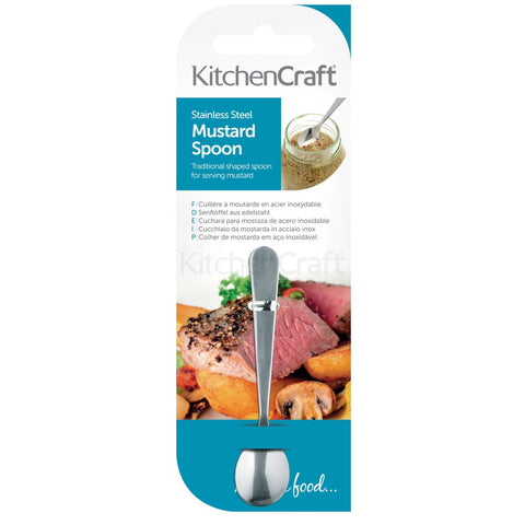 Kitchencraft KCMUST Stainless Steel Mustard Spoon