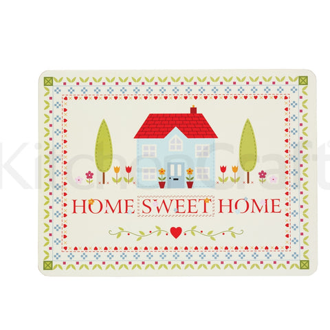 Kitchencraft KCPMHOMEPK4 Cork Backed Placemats Pkt4 - Home Sweet Home