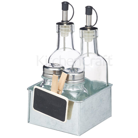 Kitchencraft KCSMCONDSET Cruet Set / Condiment Caddy