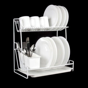Delfinware White 2 Tier Plate Rack ( 2003 )