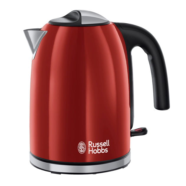 Russell Hobbs 20412 Colours Plus+ Jug Kettle 1.7Ltr 3kW Flame Red