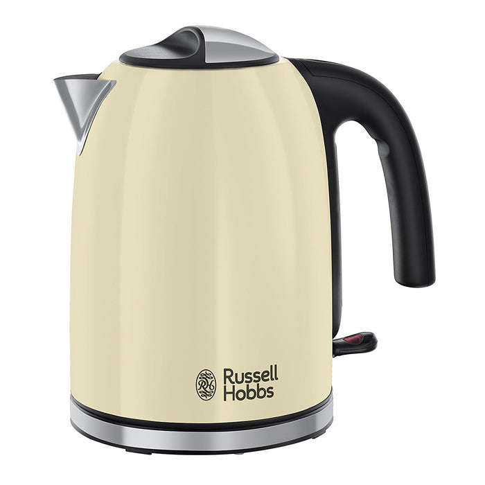 Russell Hobbs 20415 Colours Plus+ Jug Kettle 1.7Ltr 3kW Classic Cream