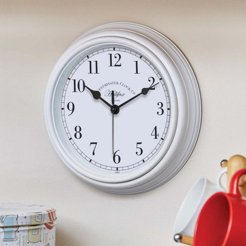 Outside In Designs 5160070 Halifax Wall Clock 22cm - White