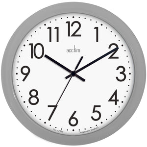 Acctim 21890 Abingdon Wall Clock 25.5cm - Grey