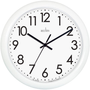 Acctim 21892 Abingdon Wall Clock 25.5cm - White