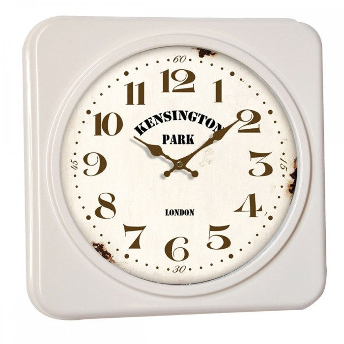 Premier 2200928 Kensington Square Wall Clock - Ivory