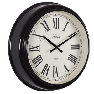 Acctim 22263 Highan Wall Clock 45.4cm - Black