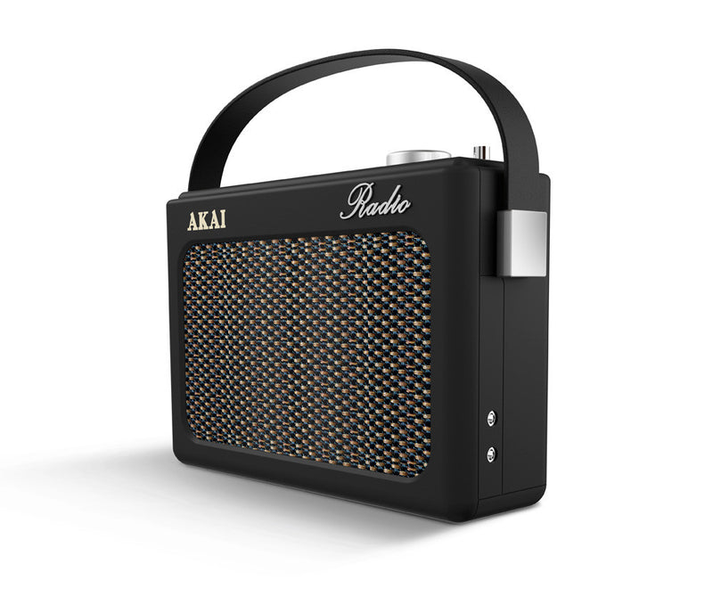 Akai A60016N Retro Portable DAB Bluetooth Radio - Black