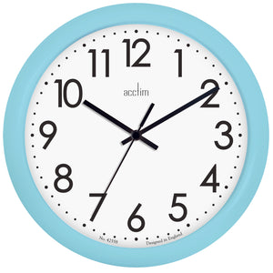 Acctim 22500 Abingdon Wall Clock 25.5cm - Pale Blue