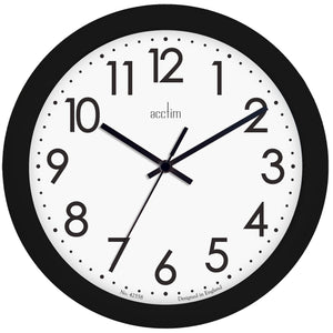 Acctim 22503 Abingdon Wall Clock 25.5cm - Black