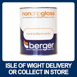 Berger Non-Drip Gloss 750ml - Various Colours