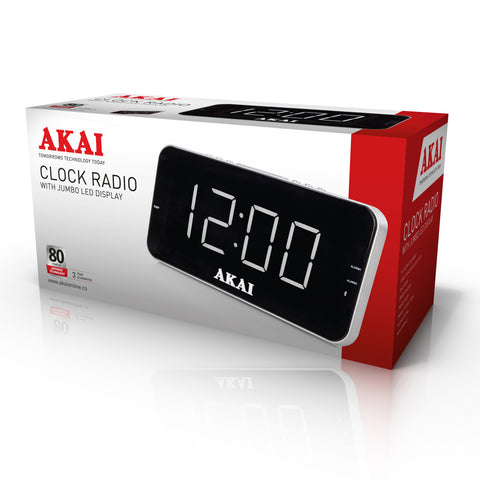 Akai A61019 Clock Radio With Jumbo LED Display