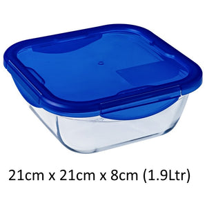 Pyrex 286PG00 Cook & Go Glass Square Dish with Lid 21x21cm