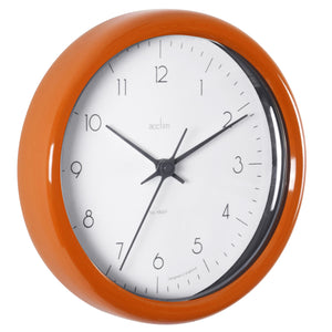 Acctim 29470 Chiltern Wall Clock 24cm - Orange