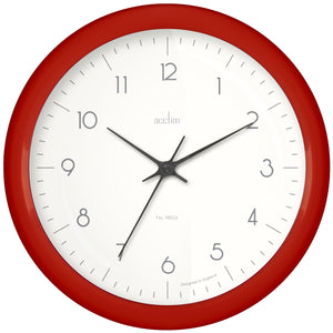 Acctim 29474 Chiltern Wall Clock 24cm - Red
