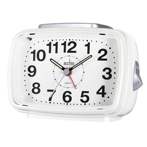 Acctim 13880 Titan II Alarm Clock - White