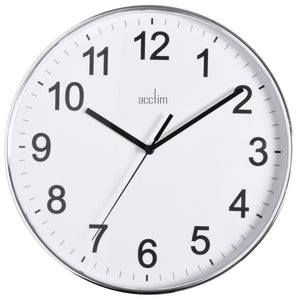 Acctim 22557 Crewe Wall Clock 25.2cm - White