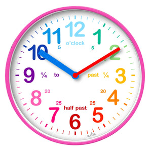 Acctim 22520 Wickford Kids Wall Clock 19.8cm - Pink