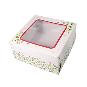 Culpitt 90220 Holly Square Cake Box - 8in